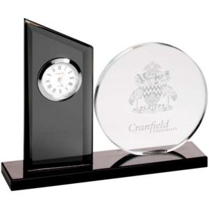 GLASS CLOCK AND ROUND PLAQUE Thumbnail