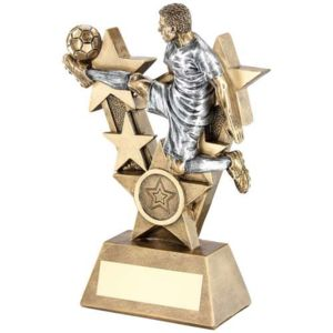 MALE 'VOLLEY CONTROL' FOOTBALLER TROPHY Thumbnail