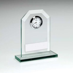 JADE GLASS CLOCK TROPHY Thumbnail