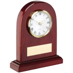 ARCHED WOODEN CLOCK Thumbnail