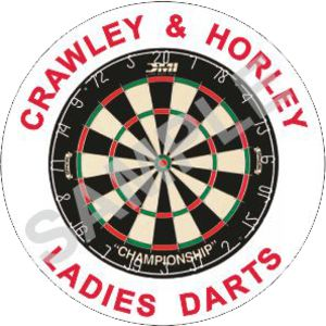 Crawley & Horley ladies Darts - Domed  Thumbnail